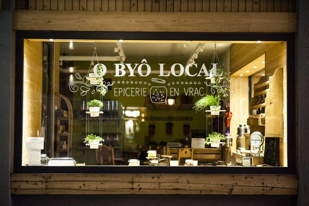O Byô Local, épicerie en vrac à Haute-Nendaz - vitrine
